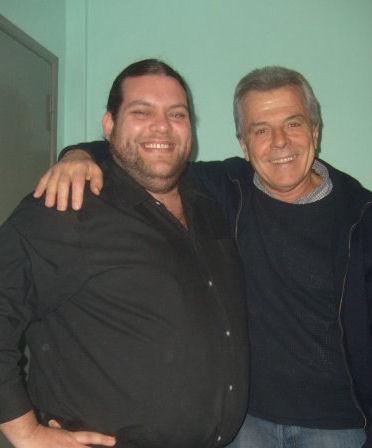 Luciano Bina con Victor Laplace