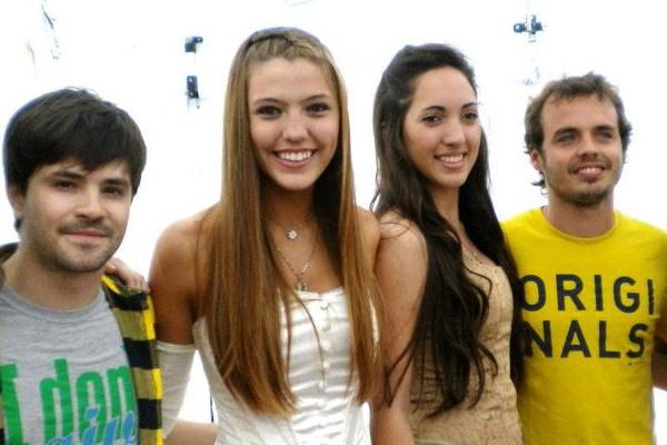 Benjamin Rojas, Felipe Colombo y Pierina Colabianchi