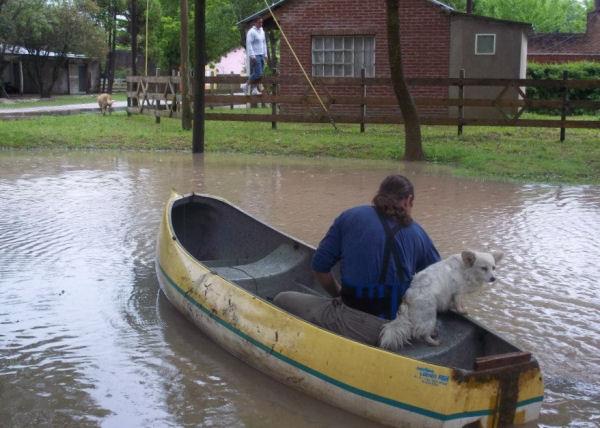 canoa por pipinas por Aye Huelmo
