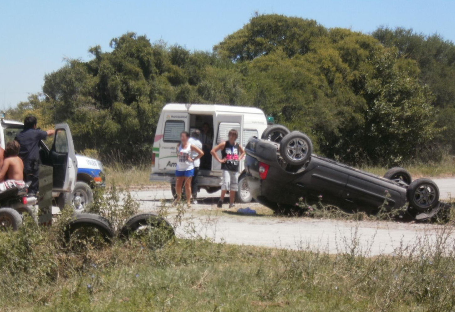 accidente y vuelco ruta 11 punta del indio