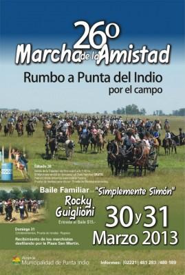 Afiche Marcha de la Amistad 26
