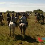 Los marchistas rumbo a Punta del Indio