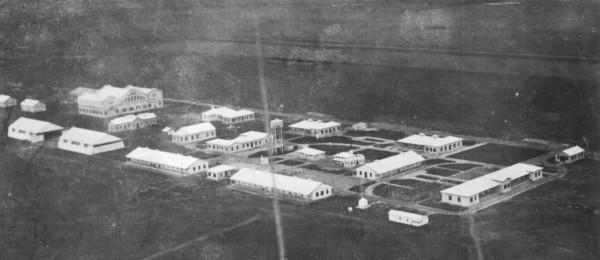 Foto de los comienzos de la base, en el año 1927.