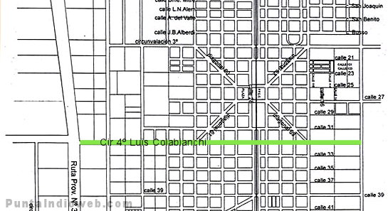 calle colabianchi veronica mapa