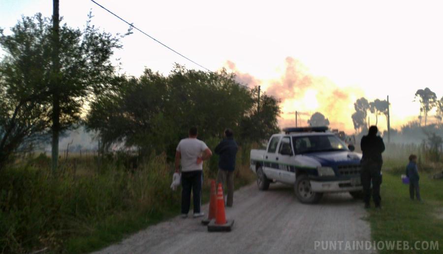 incendio Sarandi Punta del Indio