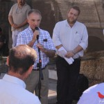 Gerardo Landa dando la bienvenida a la Expo Ternera