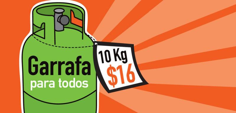 garrafa social 16 pesos