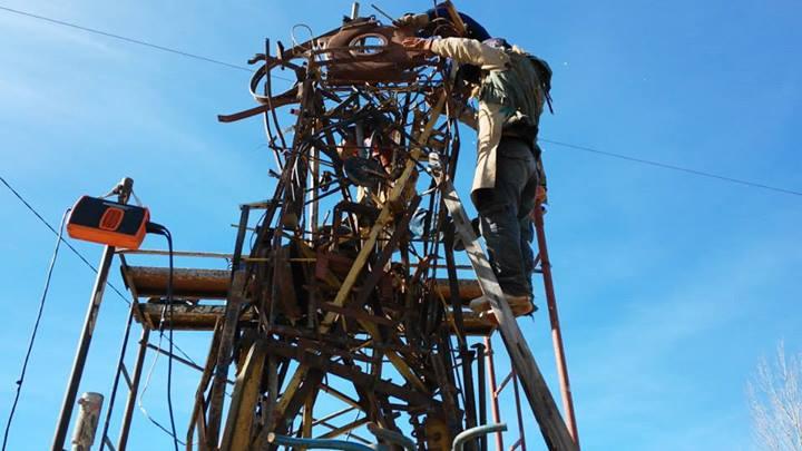 Construccion indio querandi Punta del Indio